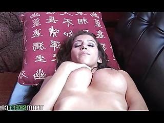 Big Tits Boobs Brunette Bus Busty Hot Masturbation Model