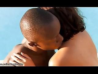 Ass Couple Ebony Erotic Interracial Lover Massage