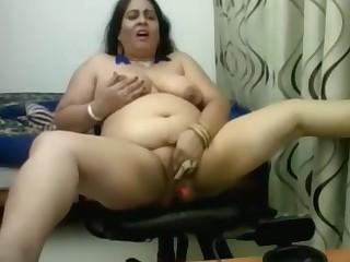 Amateur Dildo BBW Indian Mature MILF Toys Webcam